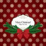 Kerstmis en Nieuwjaar Stock Afbeelding