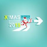 Kerstmis en Nieuwjaar 2015 achtergrond X'MAS Signconcept vector illustratie