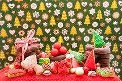 Kerstmis en Nieuwjaar als thema gehade decoratie Stock Afbeeldingen