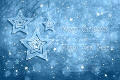 Kerstmis en Nieuwjaar de kaartachtergrond van de vakantiegroet Royalty-vrije Stock Fotografie