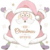 Kerstmis en Nieuwjaar 2017 De Kerstman _2 Stock Afbeelding