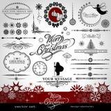 Kerstmis en Nieuwjaar decoratieve reeks Royalty-vrije Stock Afbeelding