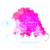 Kerstmis en Nieuwjaar die kaartontwerp wensen Stock Foto