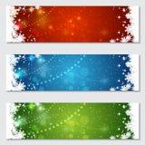 Kerstmis en Nieuwjaar kleurrijke vectorbanners Stock Foto's