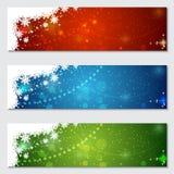 Kerstmis en Nieuwjaar kleurrijke vectorbanners Stock Fotografie