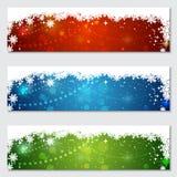 Kerstmis en Nieuwjaar kleurrijke vectorbanners Royalty-vrije Stock Foto