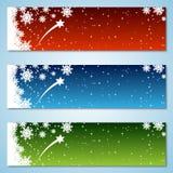 Kerstmis en Nieuwjaar kleurrijke vectorbanners Royalty-vrije Stock Afbeelding