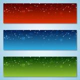 Kerstmis en Nieuwjaar kleurrijke vectorbanners Royalty-vrije Stock Afbeeldingen