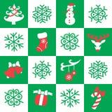 Kerstmis en Nieuwjaar Naadloos Patroon Royalty-vrije Stock Afbeelding