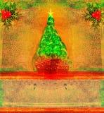 Kerstmis en Nieuwjaar retro ontwerp Stock Foto