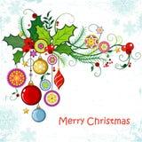 Kerstmis en Nieuwjaar` s achtergrond Stock Afbeeldingen