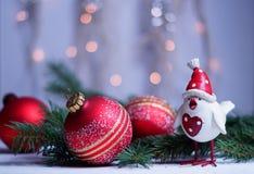 Kerstmis en Nieuwjaar` s groeten met het symbool 2017 Stock Foto