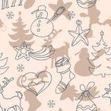 Kerstmis en Nieuwjaar` s naadloos patroon vector illustratie