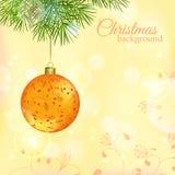 Kerstmis en Nieuwjaar Vectorachtergrond Stock Afbeeldingen
