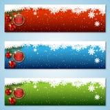 Kerstmis en Nieuwjaar vectorbanners Stock Fotografie