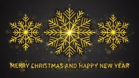 Kerstmis en Nieuwjaar vectorillustratie Stock Fotografie