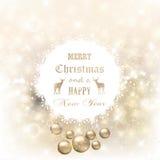 Kerstmis en Nieuwjaarachtergrond Royalty-vrije Stock Afbeelding