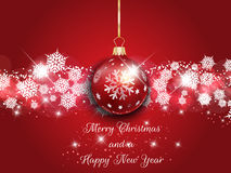 Kerstmis en Nieuwjaarachtergrond Royalty-vrije Stock Foto