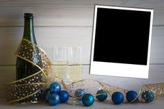 Kerstmis en Nieuwjaarachtergrond Stock Fotografie