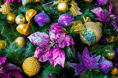 Kerstmis en Nieuwjaarachtergrond Stock Afbeeldingen