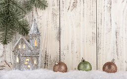 Kerstmis en Nieuwjaarachtergrond Royalty-vrije Stock Fotografie