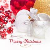 Kerstmis en Nieuwjaarachtergrond 2017 Royalty-vrije Stock Foto's