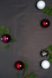 Kerstmis en Nieuwjaarachtergrond Stock Foto's