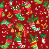 Kerstmis en Nieuwjaarachtergrond met Kerstmisvoorraad Royalty-vrije Stock Foto's