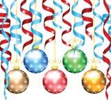 Kerstmis en Nieuwjaarboomdecoratie Royalty-vrije Stock Afbeeldingen