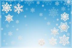 Kerstmis en Nieuwjaardecoratie: beeldjes van sneeuwvlokken op B Royalty-vrije Stock Afbeelding