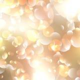 Kerstmis en Nieuwjaarfeest bokeh met copyspace. Royalty-vrije Stock Foto