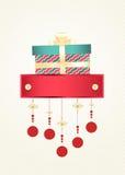 Kerstmis en Nieuwjaargroetkaart Stock Foto's
