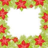 Kerstmis en Nieuwjaargroetkaart. Stock Foto's