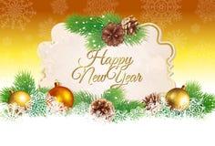 Kerstmis en Nieuwjaargroetkaart of achtergrond Royalty-vrije Stock Foto