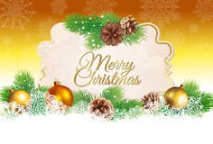 Kerstmis en Nieuwjaargroetkaart of achtergrond Royalty-vrije Stock Foto's