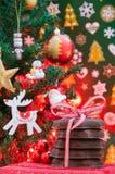 Kerstmis en Nieuwjaarkoekjes Stock Foto's