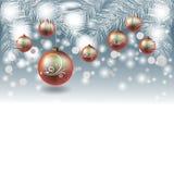 Kerstmis en Nieuwjaarontwerp Stock Afbeeldingen