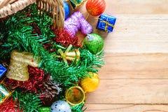Kerstmis en Nieuwjaarornamenten Stock Afbeeldingen
