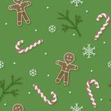 Kerstmis en Nieuwjaarpatroon Royalty-vrije Stock Afbeelding