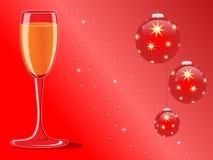 Kerstmis en Nieuwjaarskaart royalty-vrije illustratie