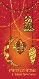 Kerstmis en Nieuwjaarskaart Royalty-vrije Stock Fotografie