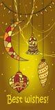 Kerstmis en Nieuwjaarskaart Royalty-vrije Stock Foto
