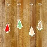 Kerstmis en Nieuwjaarskaart. + EPS8 Stock Afbeelding