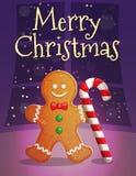 Kerstmis en Nieuwjaarskaartmalplaatje Royalty-vrije Stock Afbeeldingen