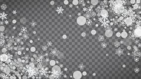 Kerstmis en Nieuwjaarsneeuwvlokken Stock Afbeelding