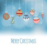 Kerstmis en Nieuwjaaruitnodigingskaart Stock Afbeeldingen