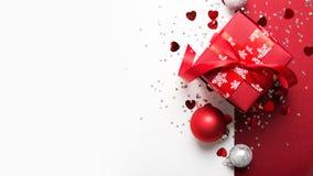 Kerstmis en Nieuwjaarvakantieachtergrond De groetkaart van Kerstmis De vakantie van de winter stock foto's