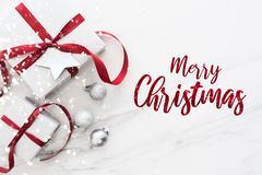 Kerstmis en Nieuwjaarvakantieachtergrond De groetkaart van Kerstmis De vakantie van de winter royalty-vrije stock foto
