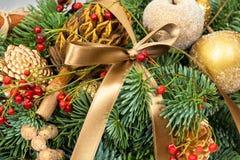 Kerstmis en Nieuwjaarvakantiedecoratie Stock Afbeeldingen
