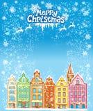 Kerstmis en Nieuwjaarvakantiekaart Stock Foto
